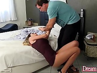 Deep oral sex video with a tranny